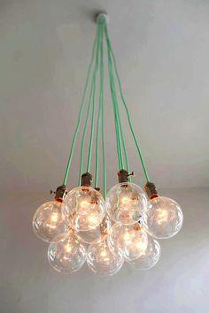 9 Clustered Pendant Light Modern Chandelier by HangoutLighting