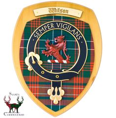Wilson Clan Crest Display Shield