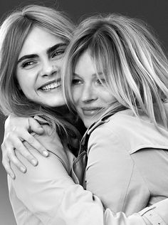 Kate and Cara, shot together for the first time for My Burberry
