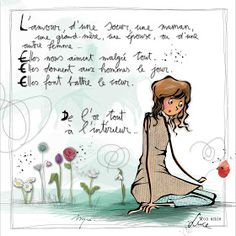 """MYRA & les couleurs ...: mon amie """"LUCE"""" Illustration Française, Illustrations, Image Positive, Positive Attitude, Crayon Painting, Drawing Sketches, Drawings, Bon Weekend, French Words"""