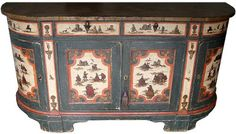 An 18th Century Tuscan Lacca Povera Credenza, polychromed