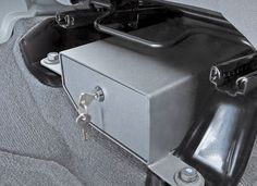 Bestop® Locking Under Seat Storage Box in Textured Black $59.99 **Potentially useful...**