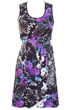 Empire Waist Sleeveless Dress With Scoop Neckline