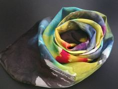 Brilliant colors on silk scarf! Etsy shop https://www.etsy.com/listing/242983986/abstract-silk-scarf-brilliant-colors-of