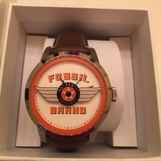 Fossil watch Authentic original fossil watch. Vintage style. Brown leather strap and vintage style watch face! Never used! Comes with box. Special edition! Fossil Accessories Watches