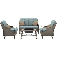Anniedale 4 Piece Deep Seating Group with Cushion