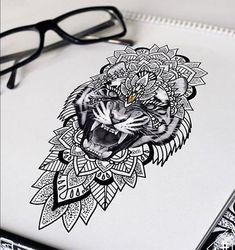 тату тигр живой эскиз Tiger Tattoo Thigh, Calve Tattoo, S Tattoo, Tiger Face Tattoo, Lion Tattoo, Tattoo Drawings, Tattoo 2017, Chest Tattoo, Tattoo Sketches