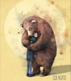 Bear Hugs, Big Bear, Love Art, Home Deco, In This World, Lonely, Cardmaking, Fairy Tales, Funny Pictures