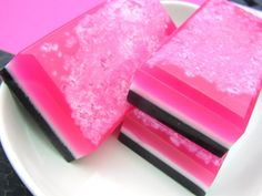 Salt Bar Soap - Rocker Girl Soap - All Natural Glycerin - Soap - Hot Pink - Rockabilly Soap. $5.75, via Etsy.