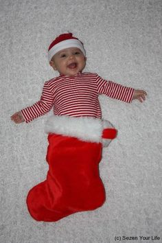 Fun photo for baby's first Christmas