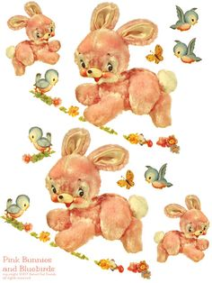 Pink Bunnies And Bluebirds Nursery Furniture Decals I Remember Having Some Of These On The