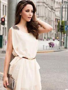 8a39effbf Vestido De Gasa Beige Importado Vestidos De Novia Sencillos