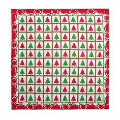 This Christmas print bandana would make a great holiday table runner, placemats, or blanket. It would also be a great accessory to add to your festive outfit during the holiday season.