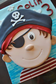pirate birthday cake | ... adorable pirate cake this week. Does this not just make you smile