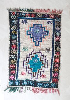 Moroccan rug at Pink Rug Co. https://www.etsy.com/listing/190087525/lets-count-the-stars-9x5-boucherouite?ref=shop_home_active_6