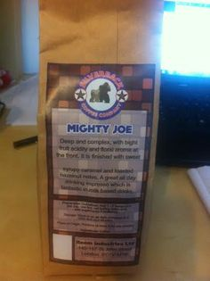 Bag of Silverback Coffee Co. Mighty Joe, Personalized Items, Fruit, Coffee, Bag, The Fruit, Bags, Coffee Art, Pocket