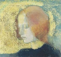 maybe i should make all my ladies with their eyes closed.  that would be much simpler.  Art by Helene Schjerfbeck