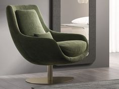 Fauteuil pivotant et relax . Mod: TELVA Egg Chair, Lounge, Furniture, Home Decor, Couches, Swivel Chair, Solid Wood, Airport Lounge, Lounge Music
