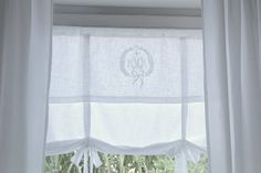 The Roman blinds monogrammed I ...... ordered from Atelier Abassi far I had almost everywhere just curtains, but for the coming cold season, I find it to have a comfortable both on the windows.