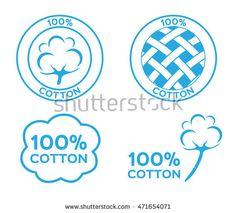 100% cotton , logo , icon , vector
