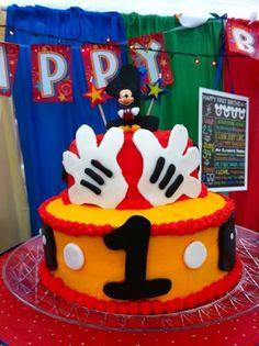 Mickey cake! First birthday. Disney
