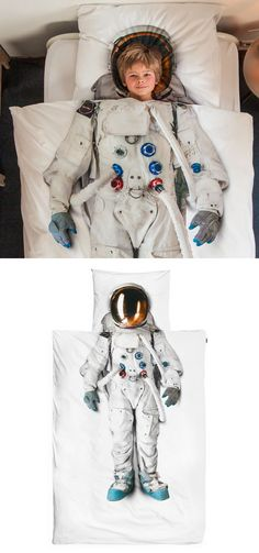 astronaut duvet set. super cool.