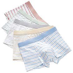 db92c19dae4df Snone 5 Pack Garçons Mémoires Étudiants Slips Pur Coton Respirant  Confortable Stripe Boxer Slips Bébé Garçons Culotte sous-Vêtements #sous- vêtements ...