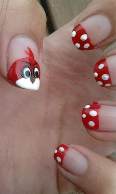 Angry Birds - Nail Art Gallery by NAILS Magazine