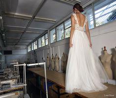 lihi hod 2017 bridal thick strap sweetheart neckline heavily embellished bodice tulle skirt romantic a  line wedding dress low back (helena) bv -- Lihi Hod 2017 Wedding Dresses