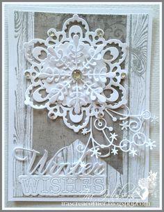 Winter snowflake card