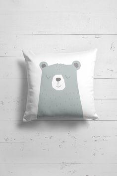 Bear pillow for children by OttoandPixelsDesign on Etsy