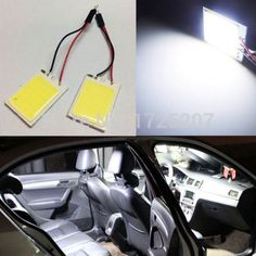 1 unids Aparcamiento 10 W COB 24 LED Chip de Coches Luz Interior T10 Bóveda del adorno del Adaptador 12 V Panel de luz bombillas de coche Auto fuente