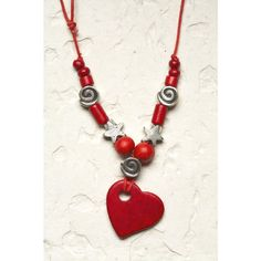Red Heart Jewelry Love and Fashion Necklace by blueroompottery, $18.00