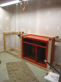Workbench to House HF Tool Cabinet? - The Gara. - Workbench to House 44 HF Tool Cabinet? - The Gara. Garage Organization Systems, Diy Garage Storage, Garage Shelving, Storage Ideas, Organization Ideas, Organizing, Garage Tools, Garage Plans, Garage Workshop