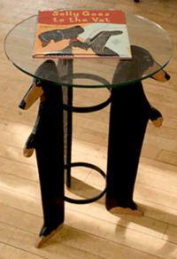 Dachshund Trio Glass Top Table
