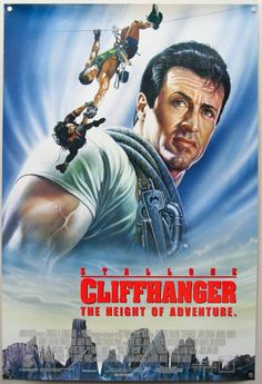 Cliffhanger (1993) (R) 1hr52min  Stars: Sylvester Stallone, John Lithgow, Michael Rooker  Director: Renny Harlin  Writer: Michael France  Story: A heist involving equipment being dropped is starting to continue after a certain amount of groups finds a plethora of stolen $100,000,000 in cash and learn, there is no silver lining between this
