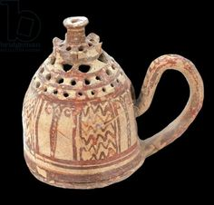 Greece: A late Minoan incense burner from Ierapetra, Crete