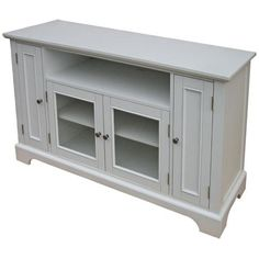 Naples White Entertainment Credenza
