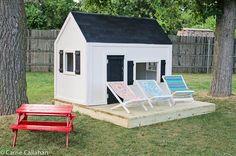 Ana White playhouse - love the black and white