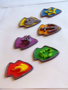 6 Paw Patrol inspired Cupcake Toppers 6 Badges by ArtCreationsbyLK, $19.00
