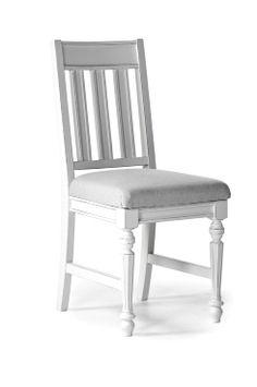 Ellos Home Tuolit, 2/pakk. Maalatut tuolit, joissa kangaspäällysteinen istuin. Pakkauksessa 2 tuolia.<br>Leveys 45,5 cm, syvyys 53 cm, korkeus 95,5 cm<br>Istuinkorkeus 48 cm, istuinleveys 43 cm, istuinsyvyys 41,5 cm, selkänojan korkeus 48,5 cm.<br>Toimitetaan koottuna.                     <br>Rahtipaino 74 kg.                                    <br>Tarkista rahtimaksu Toimitus-välilehdeltä. <br><br>