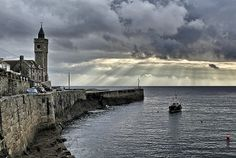 Evening Light, Porthleven, Cornwall, by James Kitto