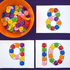 fine motor number cards for preschool and kindergarten