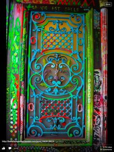 Colourful iron work