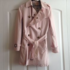 Burberry Trenchcoat Gorgeous pink Burberry trench coat. I love this jacket, just need to pare down my wardrobe. In excellent condition. No hurry to sell. Burberry Jackets & Coats Trench Coats