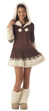 Tween Polar Princess Eskimo Girls Costume - Eskimo Costumes