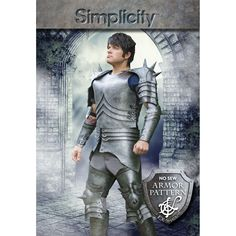 """Craft an authentic look for your costume or cosplay event with Simplicity's EVA foam armor pattern for men. For chest sizes 30"""" - 48""""."""