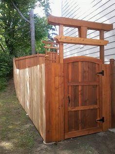 fence gate design in everett by awhitehorse via flickr - Fence Gate Design Ideas