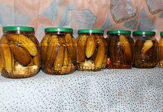 Édeskés-ropogós csemegeuborka egyszerűen Mason Jars, Cukor, House, Cilantro, Dekoration, Mason Jar, Glass Jars, Jars