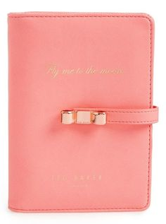Women's Wild and Wolf x Ted Baker London Travel Document Holder - Coral London Travel, Card Case, Ted Baker, Wolf, Coral, Wallet, Purses, Gifts, Bags